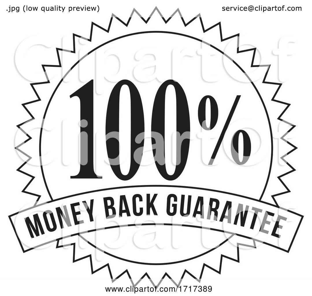 100 Percent Money Back Guarantee Stamp Mark Seal Sign