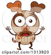 Brown Dog Emoticons
