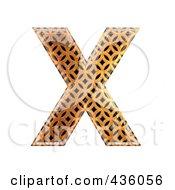 Capital Patterned Orange Letters