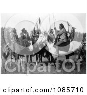 6 Crow Indians On Horseback Free Historical Stock Photography