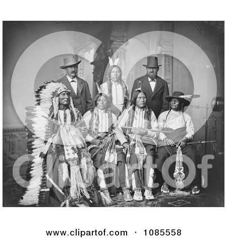 ... stock photograph free historical stock photo of a group of seven sioux
