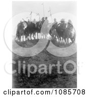 8 Crow Native Americans On Horseback Free Historical Stock Photography