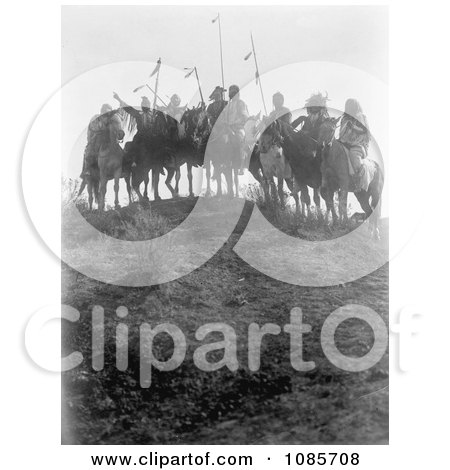 8 Crow Native Americans on Horseback - Free Historical Stock Photography by JVPD