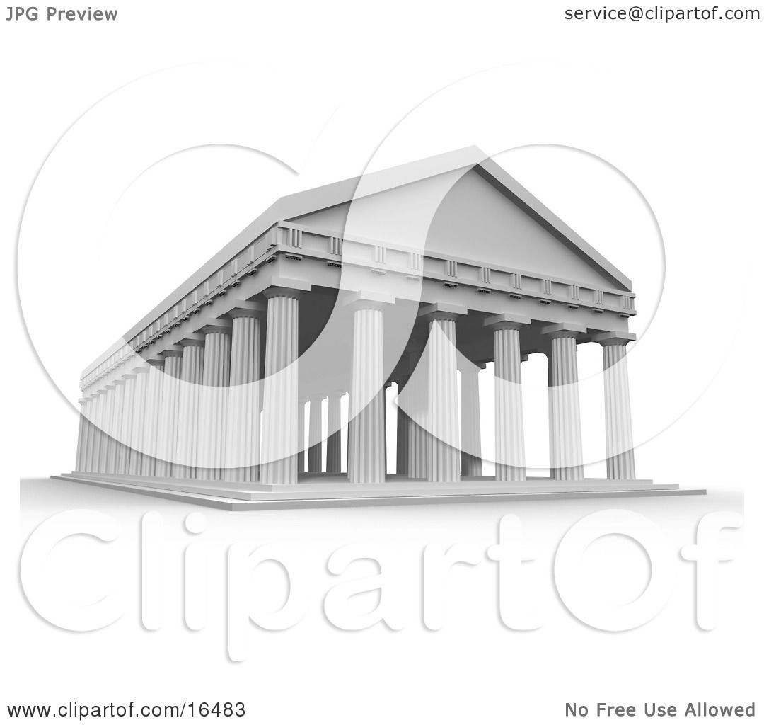 greek architecture coloring pages - photo#17