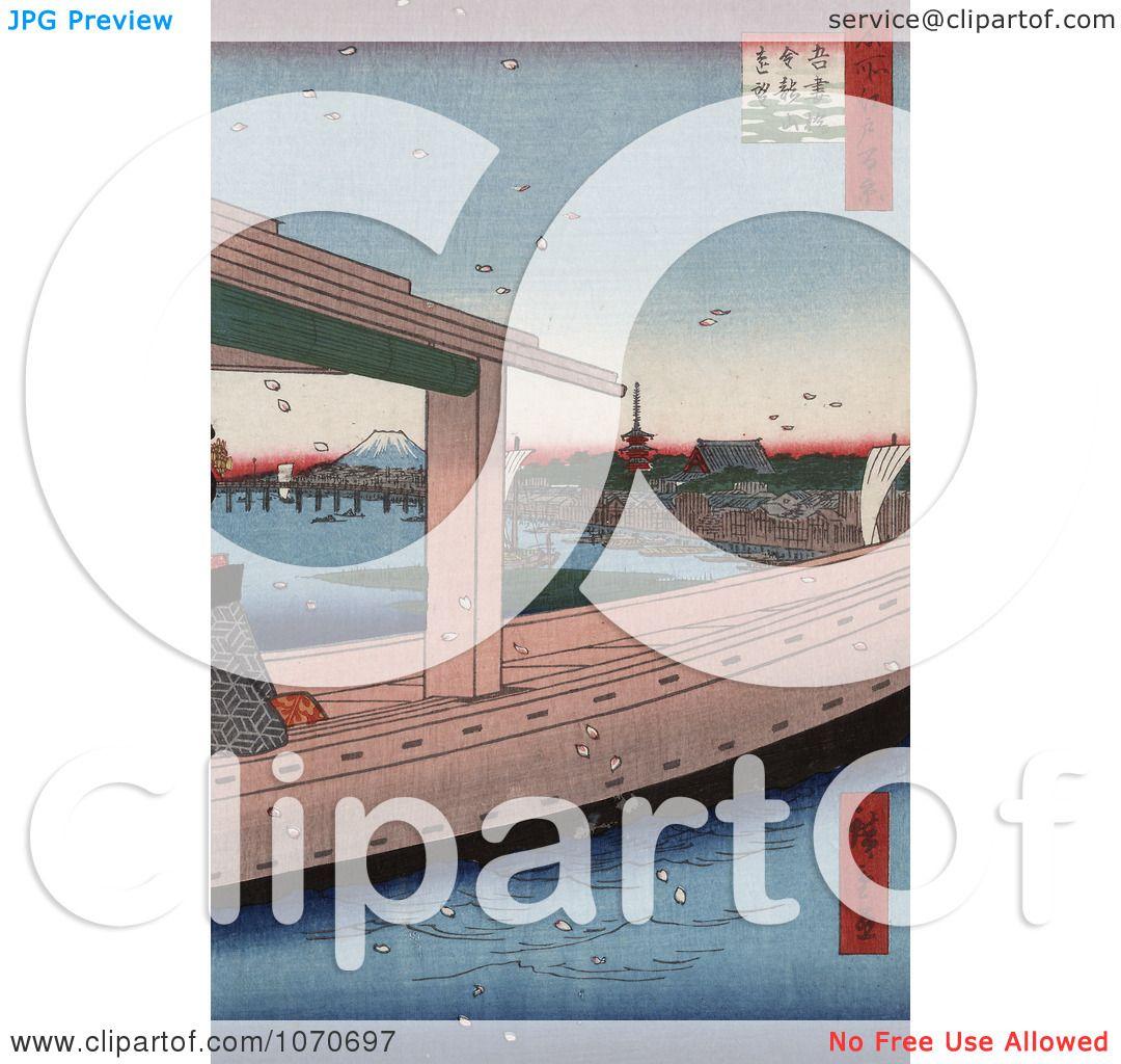 ... , Japan - Royatly Free Historical Stock Illustration by JVPD #1070697: www.clipartof.com/portfolio/jvpd/illustration/azuma-bridge...
