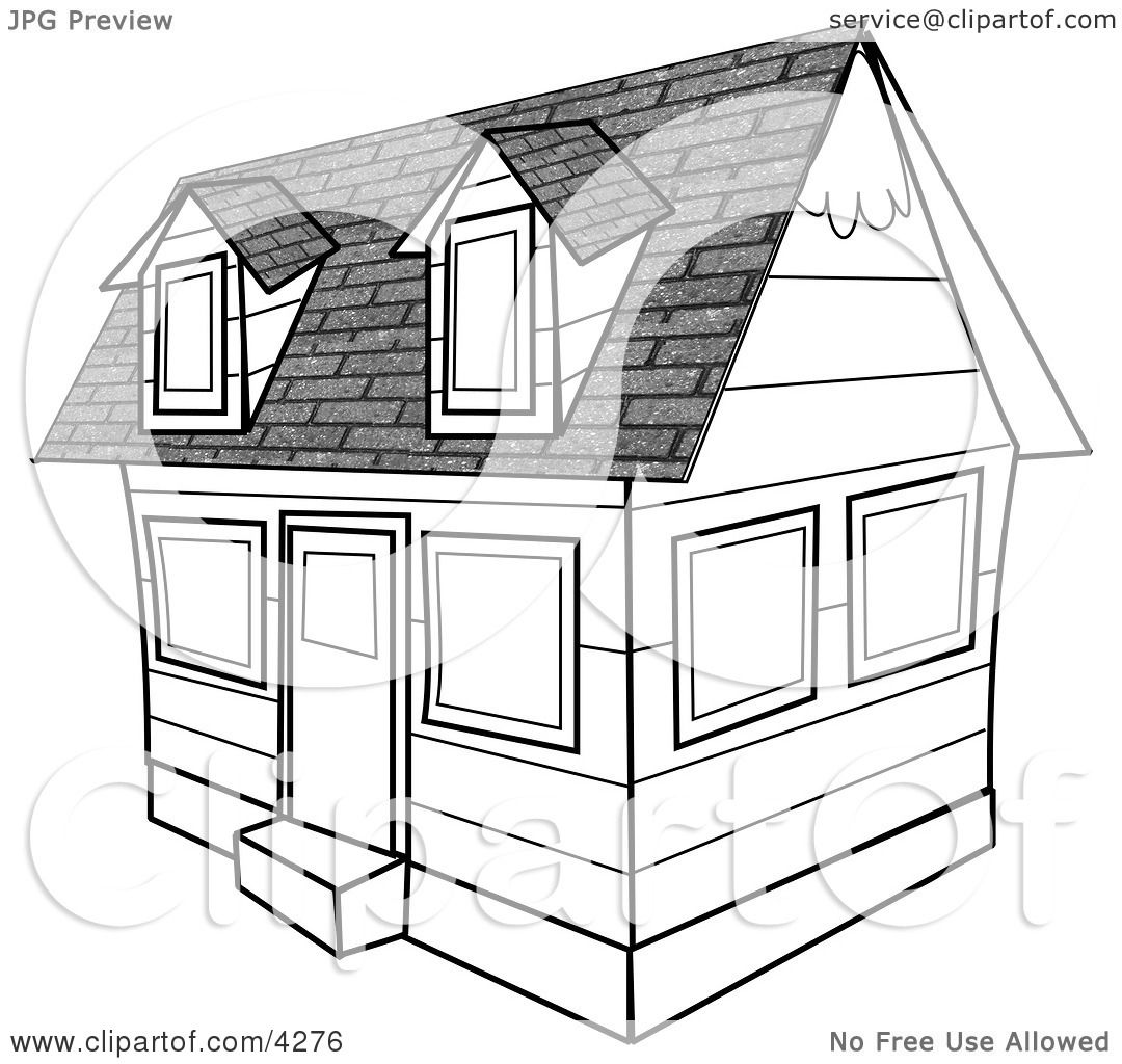 House Clipart Black And White Free Black And White House Clipart