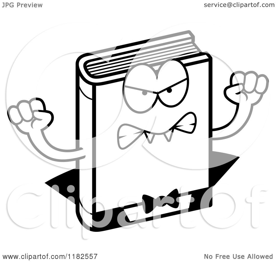 Black and White Mad Horror Vampire Book Mascot - Royalty Free ...