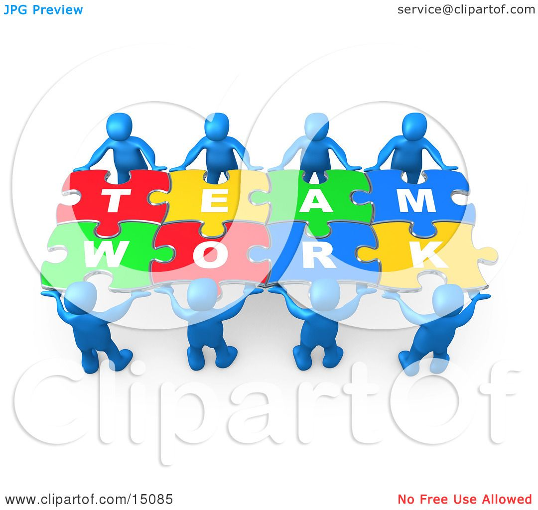 Two People Working Together Clipart
