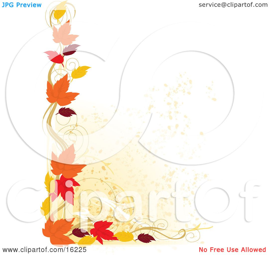 Border Of Autumn Leaves Over A