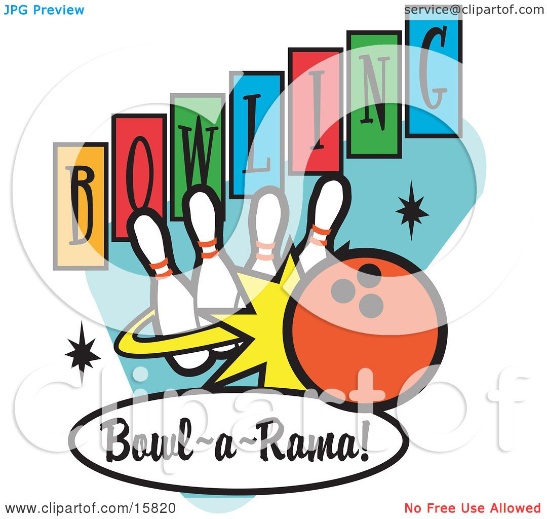Bowling Ball Hitting Bowling Bowling Pin And Ball Clipart