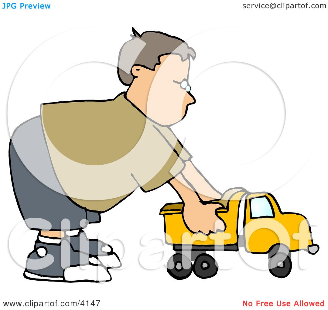 Boy Playing With A Tonka Toy Truck Clipart By Djart 4147
