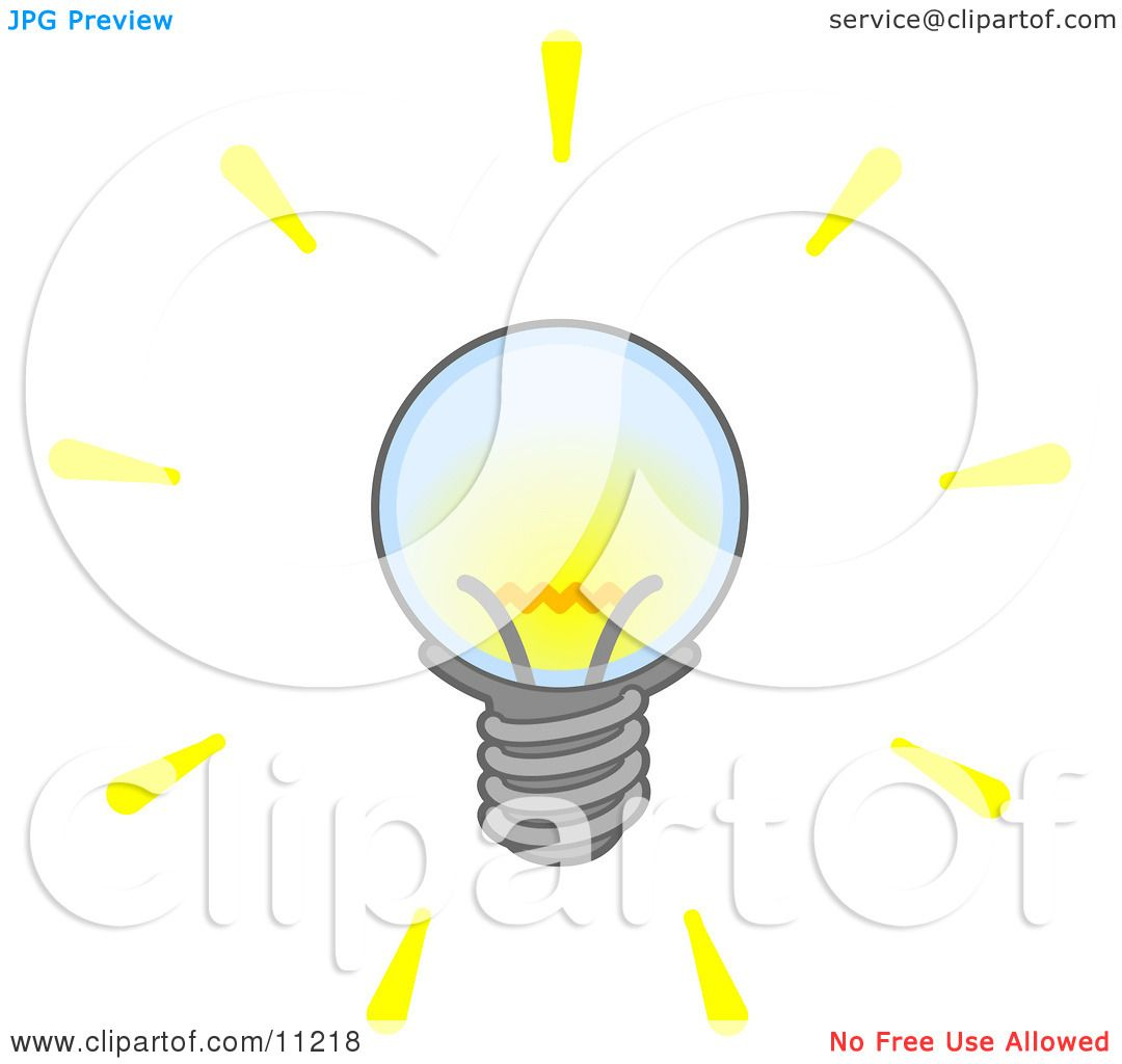 Bright Electric Light Bulb Clipart Illustration by Leo Blanchette #11218 for Bright Light Bulb Clipart  195sfw