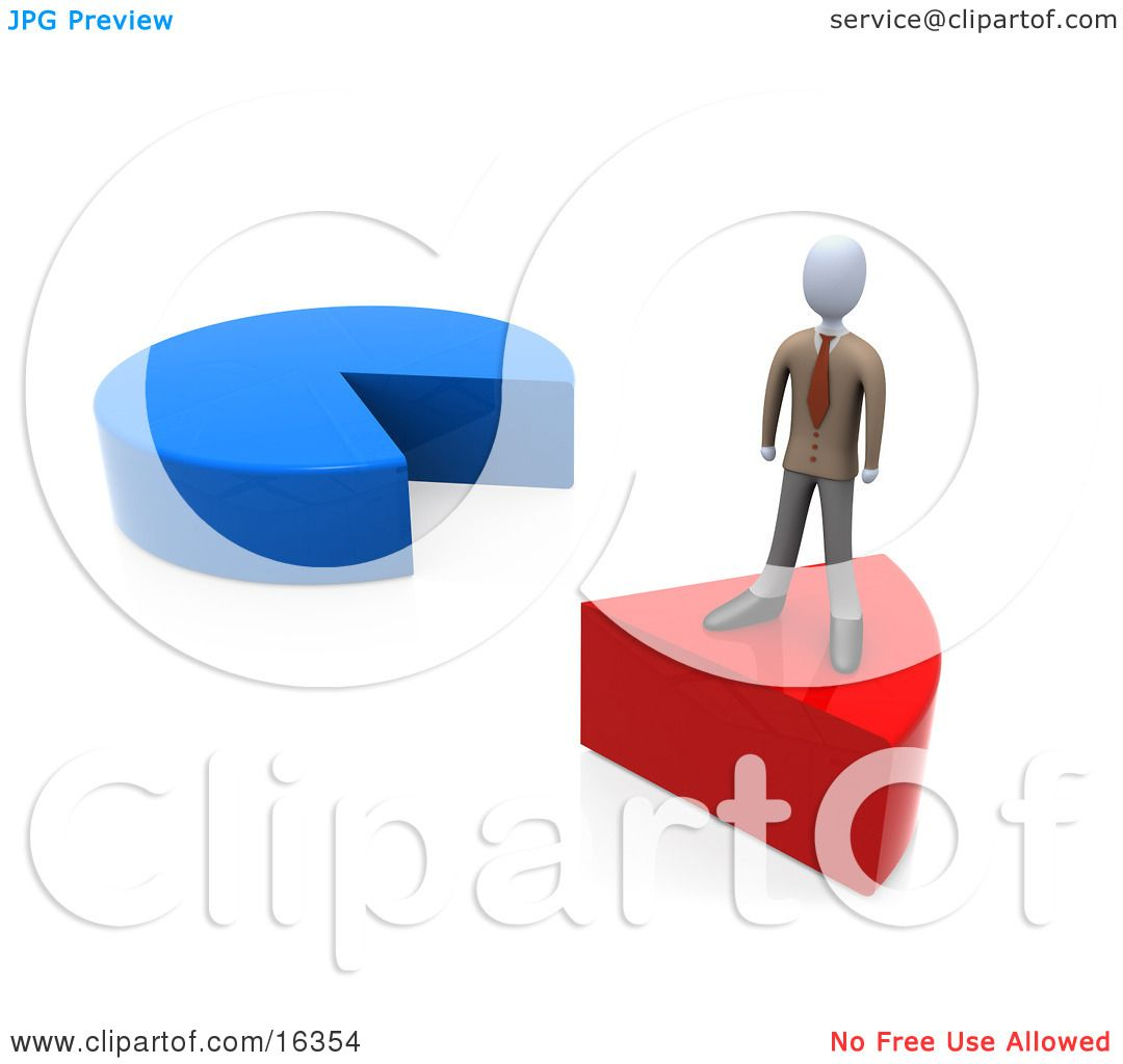 Businessman standing on a red slice of a pie chart clipart businessman standing on a red slice of a pie chart clipart illustration graphic by 3pod nvjuhfo Gallery