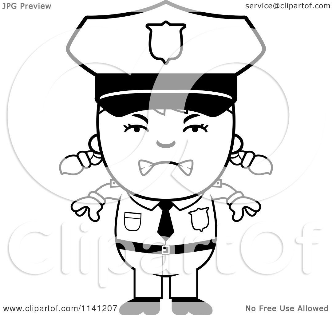 clip art police hat coloring page mycoloring free printable