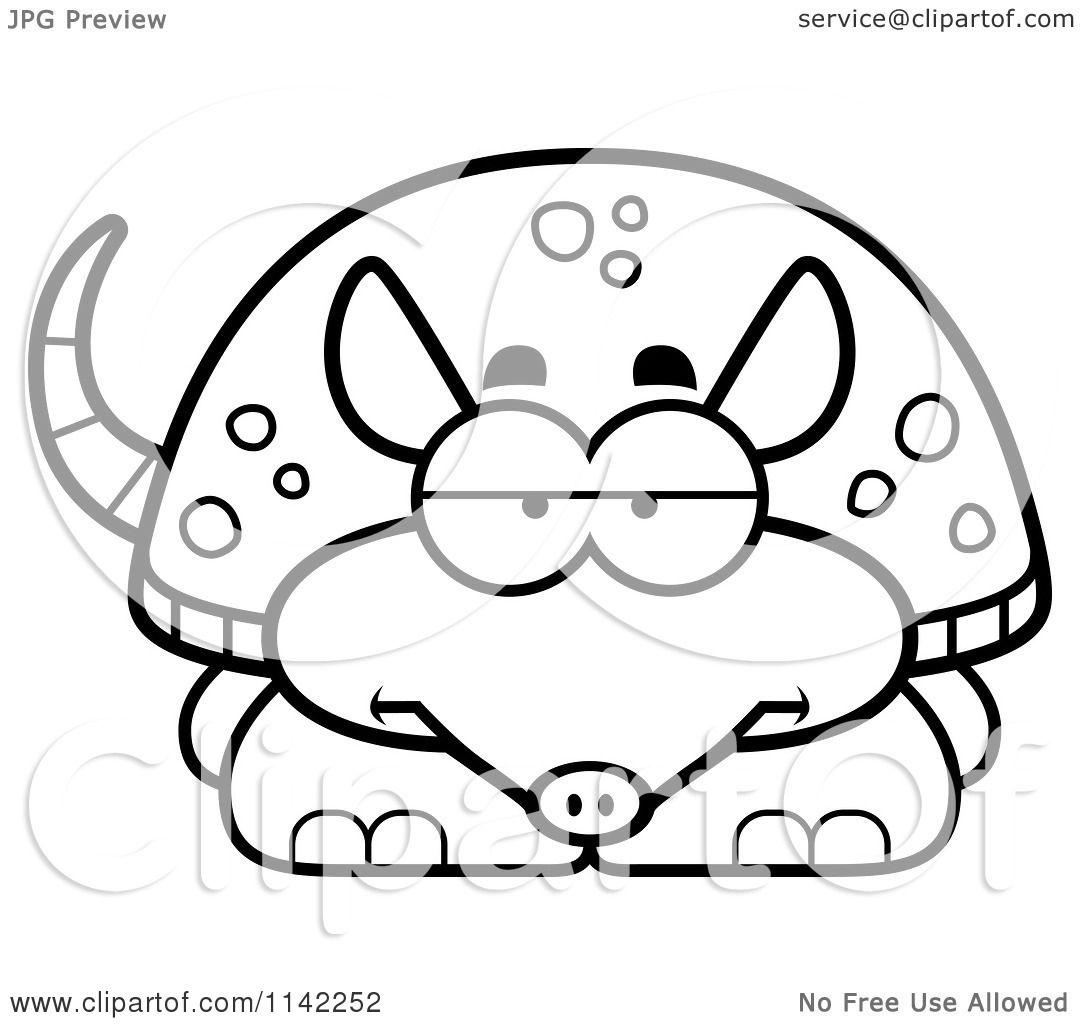 armadillos free coloring pages