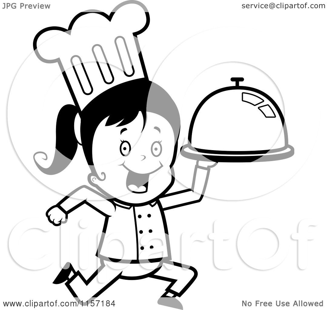 Girl Chef Coloring Pages Coloring Coloring Pages