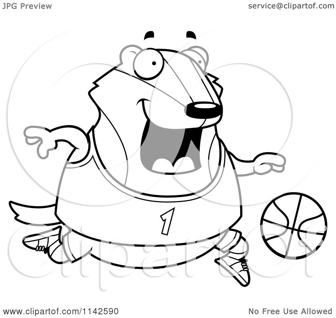 badger basketball coloring pages - photo#14