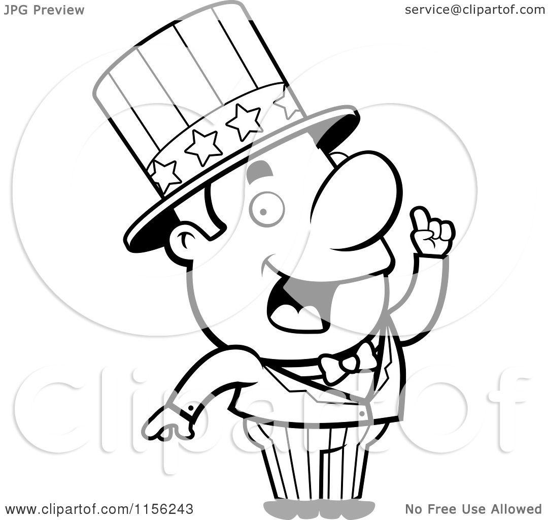 Cartoon Clipart Of A Black And White Creative Uncle Sam ... | 1080 x 1024 jpeg 89kB