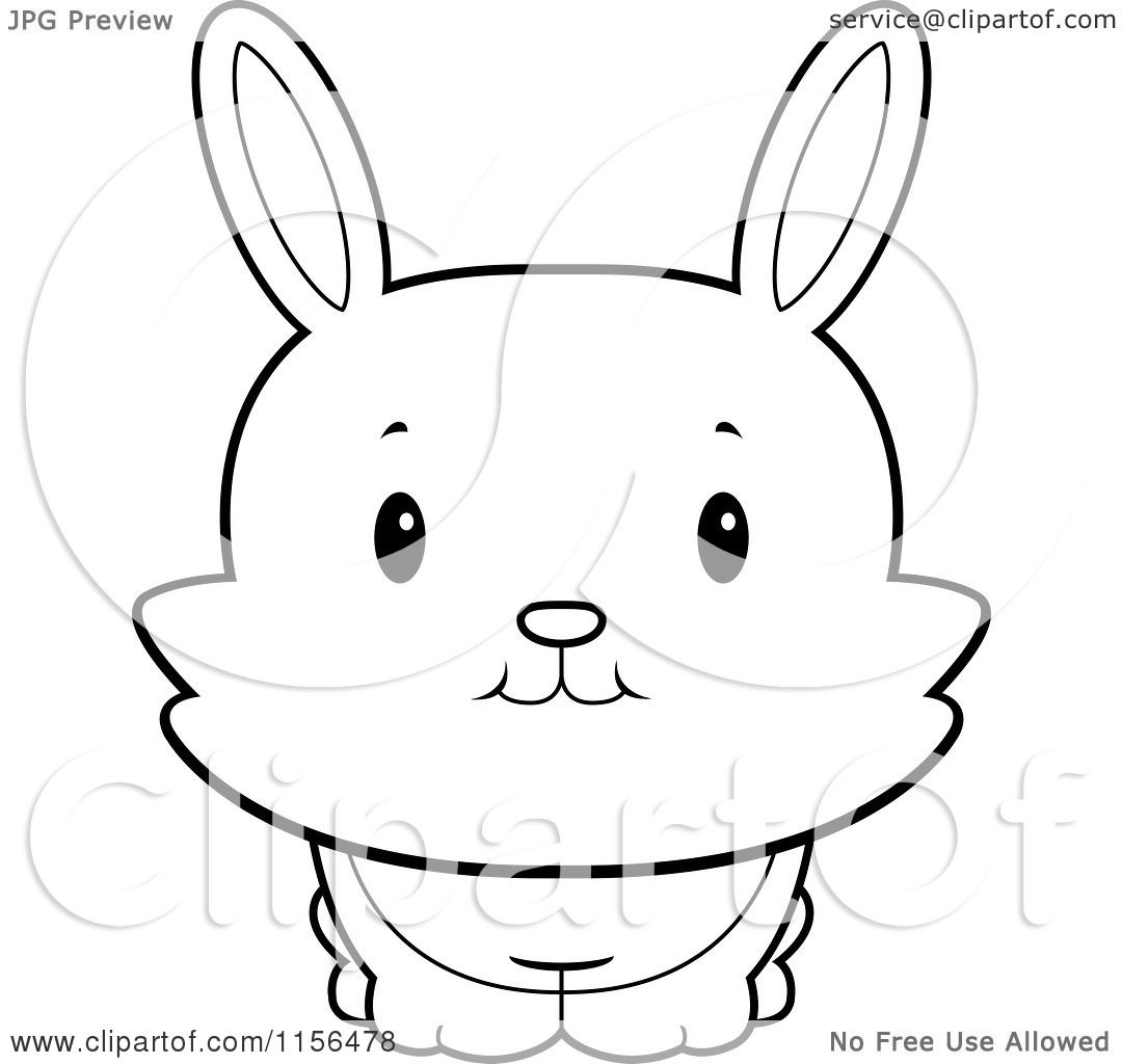 White rabbits coloring book