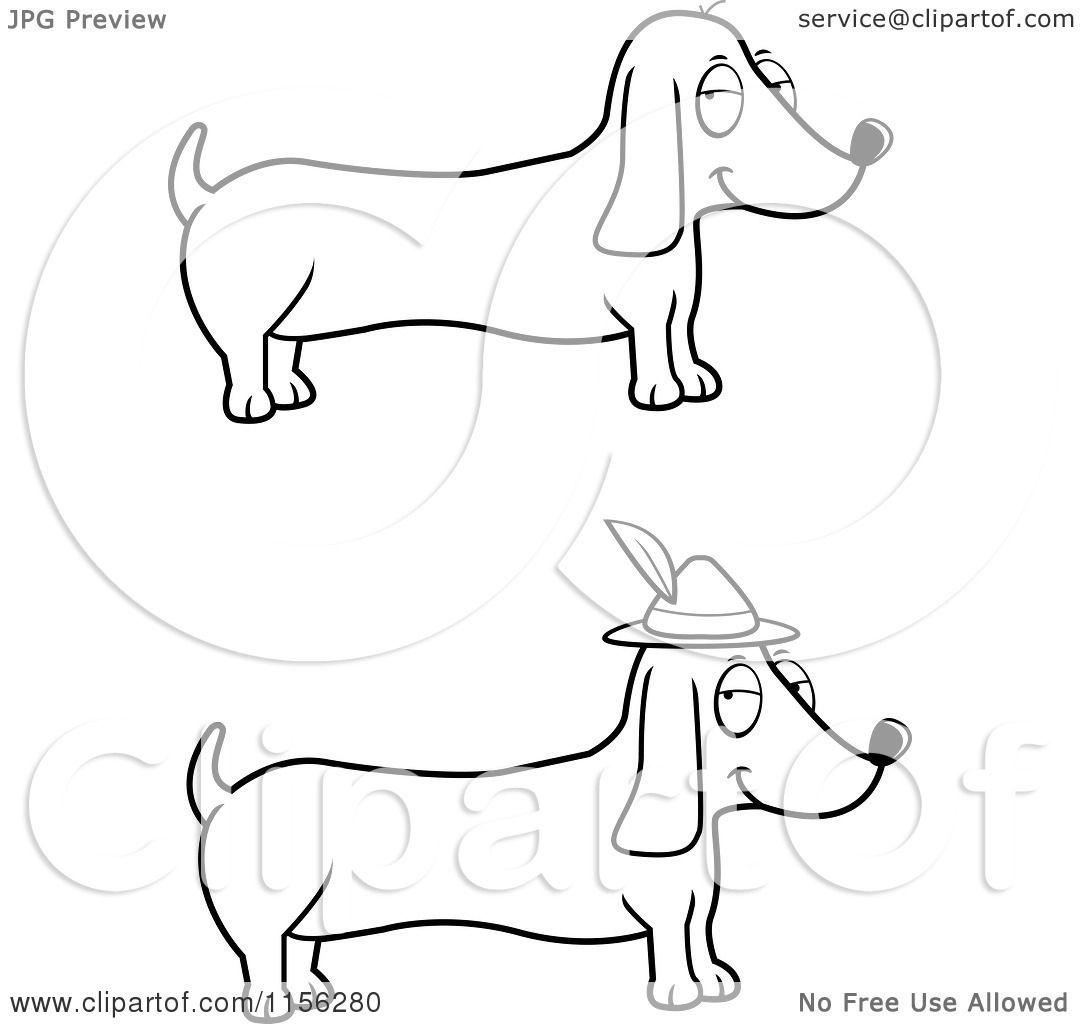 weenie dogs coloring pages - photo#17