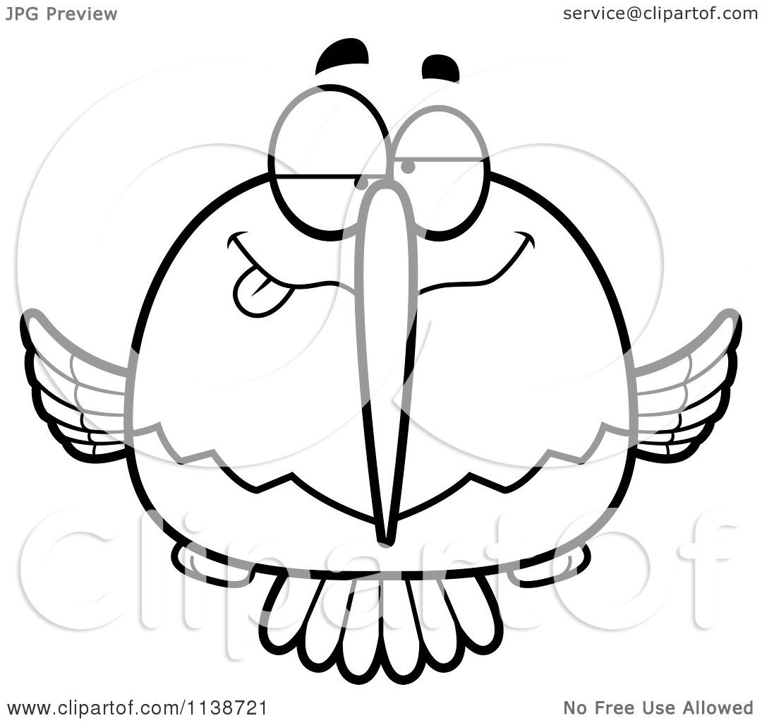 cartoon clipart of a black and white drunk or dumb hummingbird