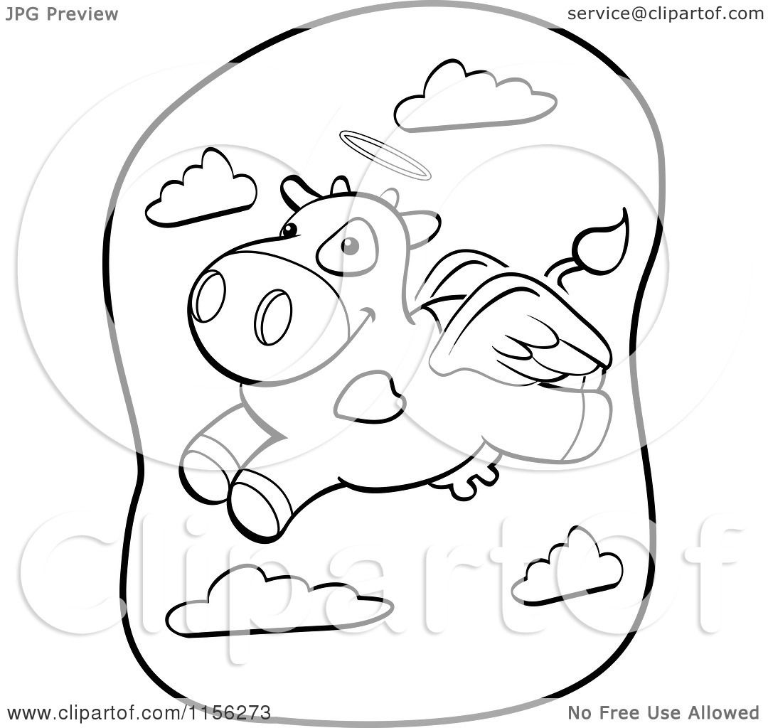 89 Flying Angel Coloring Page