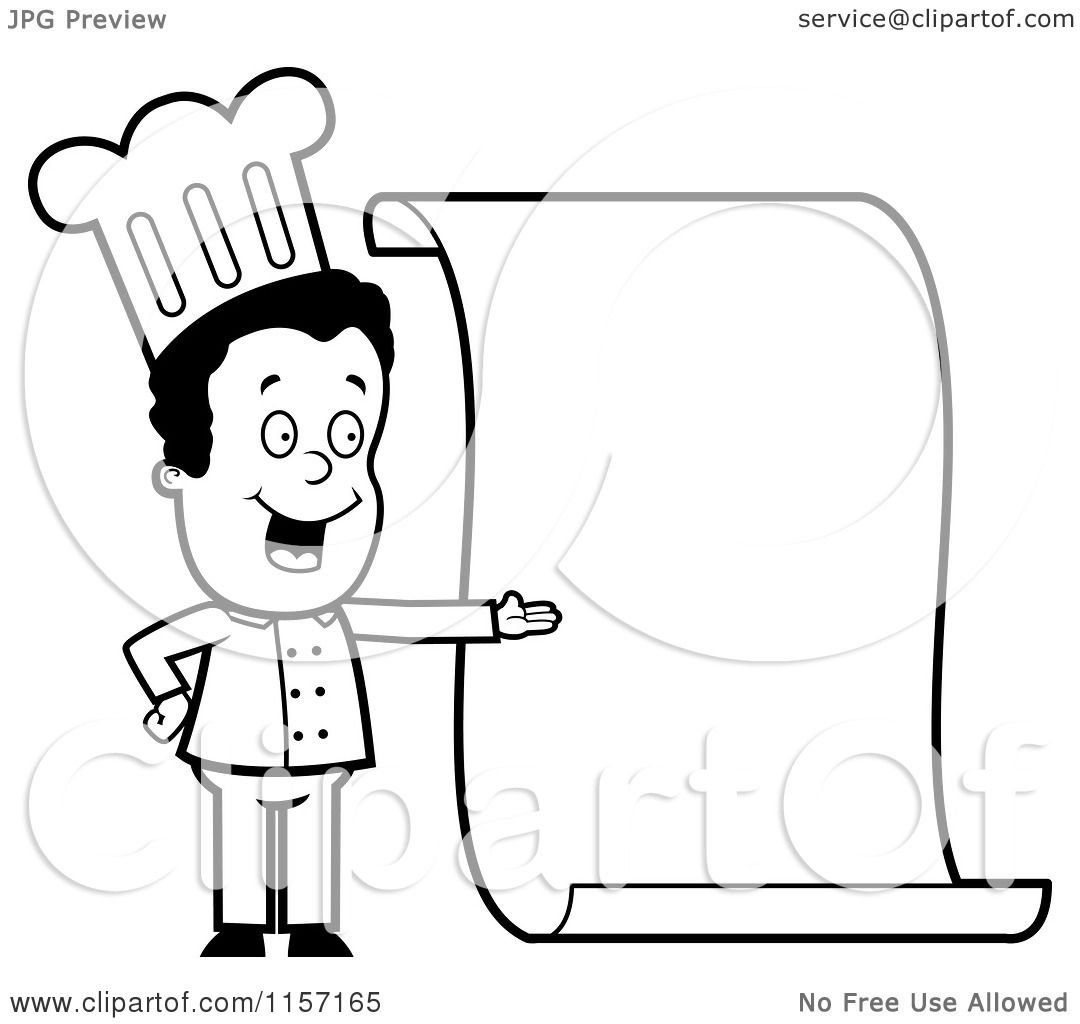 Female Chef Cartoon Coloring Coloring Pages