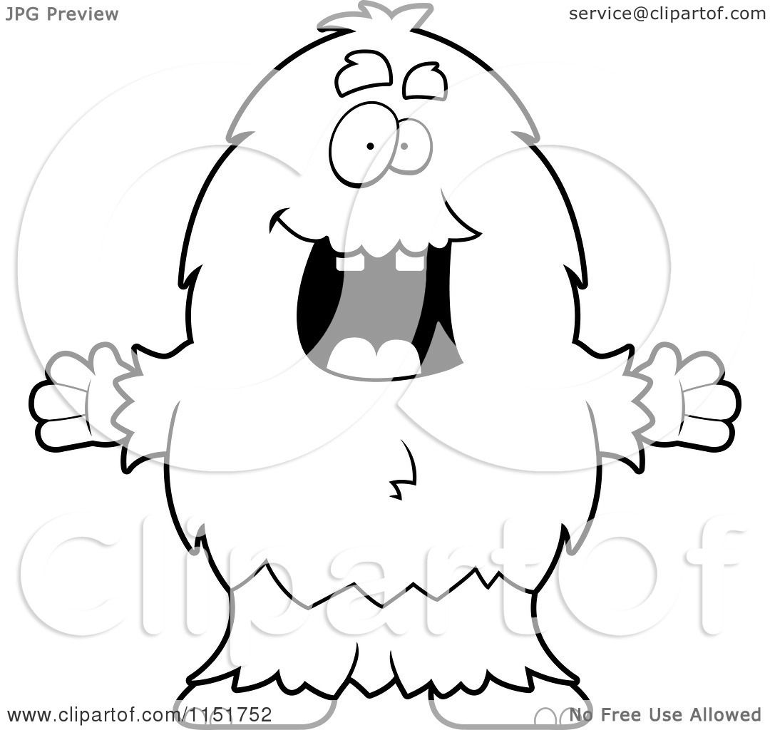 monster outline coloring pages - photo#13