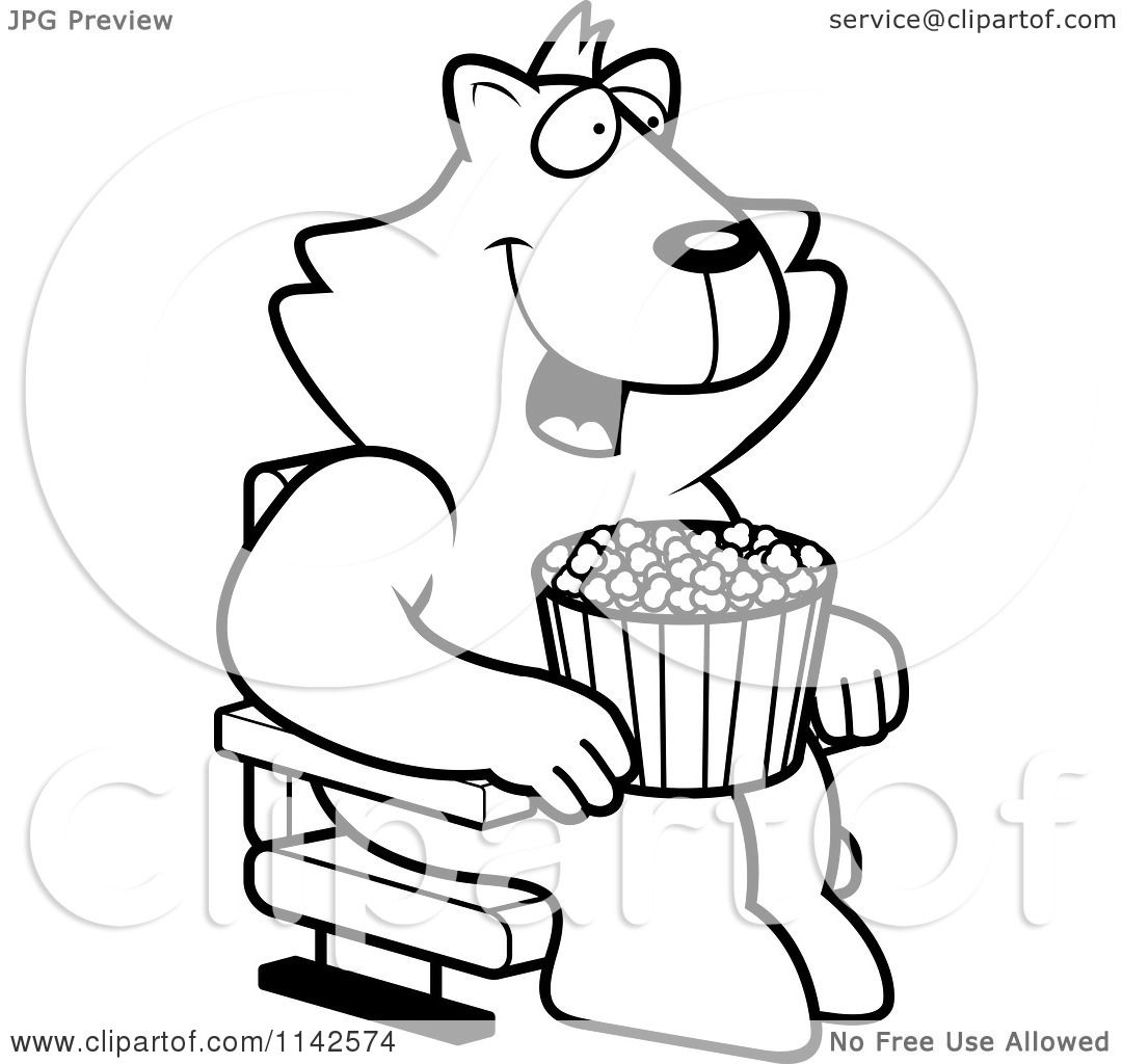 movie theater popcorn coloring page photo8