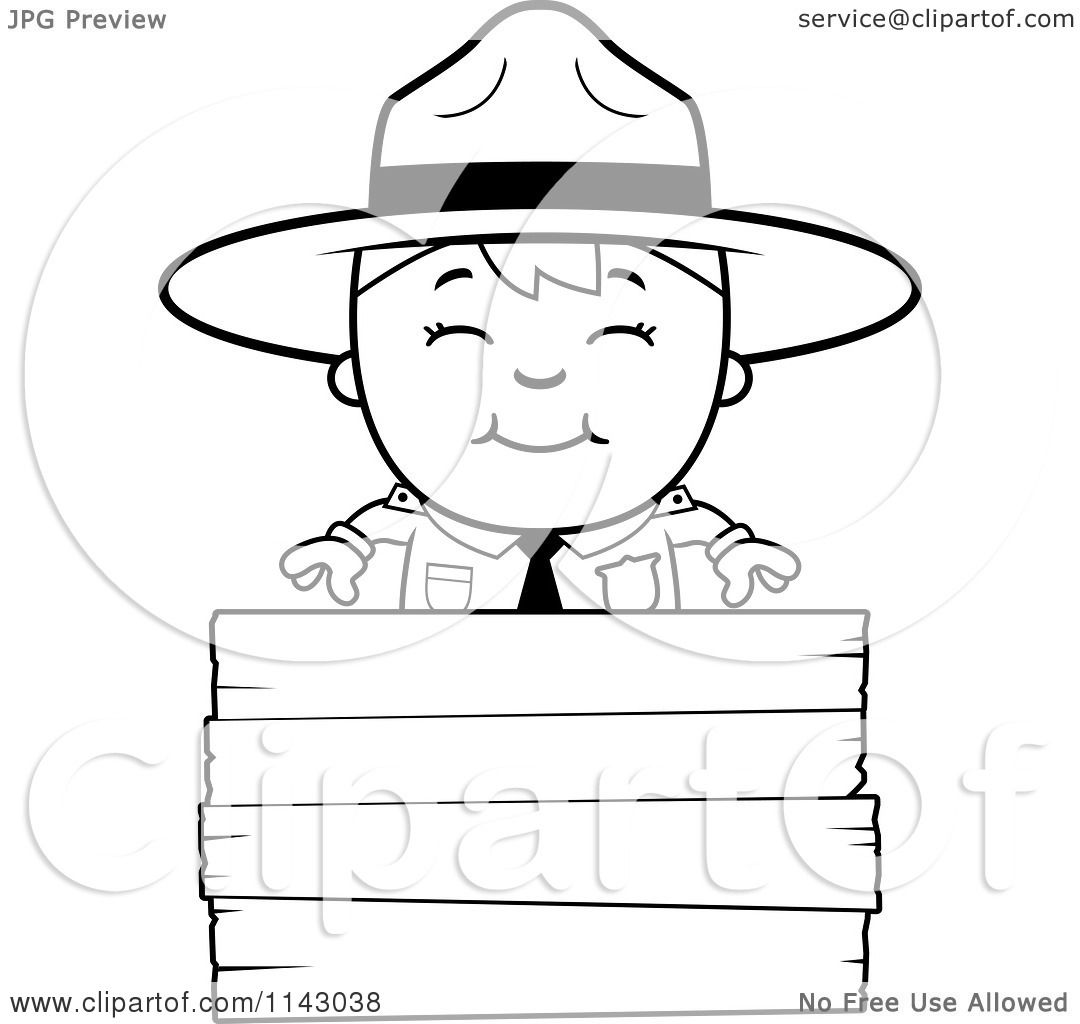forest ranger coloring pages - photo#21