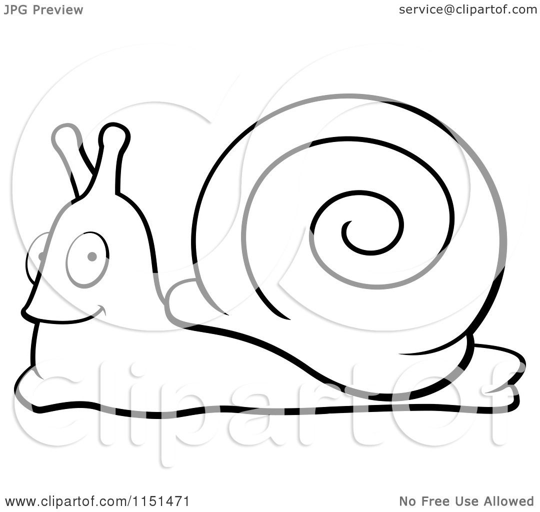 Cartoon funny snail coloring book stock vector 232624141 - And White Happy Snail Vector