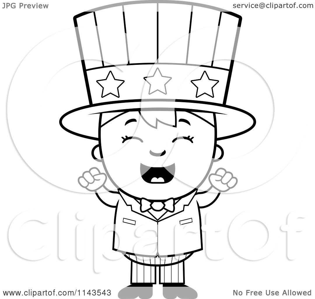 Cartoon Clipart Of A Black And White Happy Uncle Sam Boy ... | 1080 x 1024 jpeg 81kB