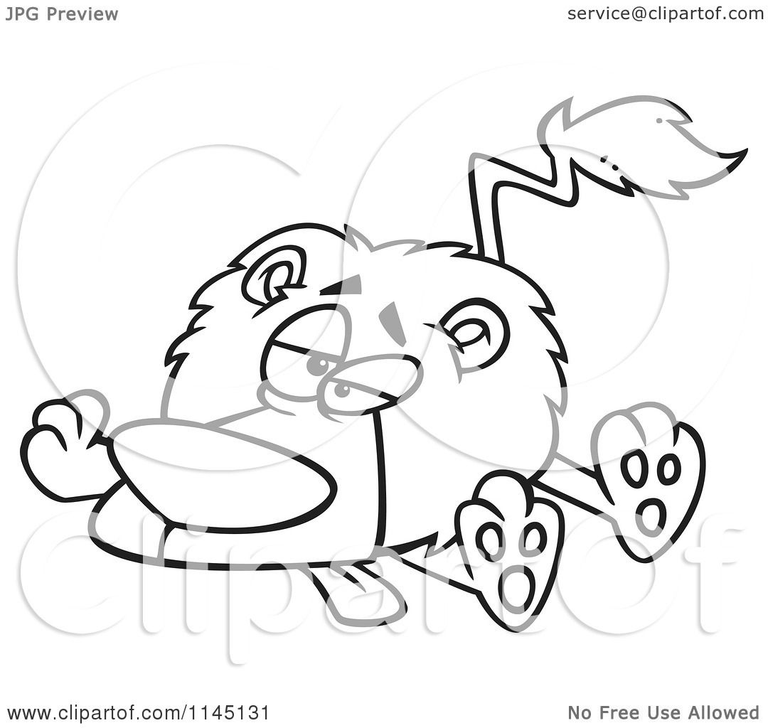 Leo The Lion Coloring Pages Outlined Coloring Page by