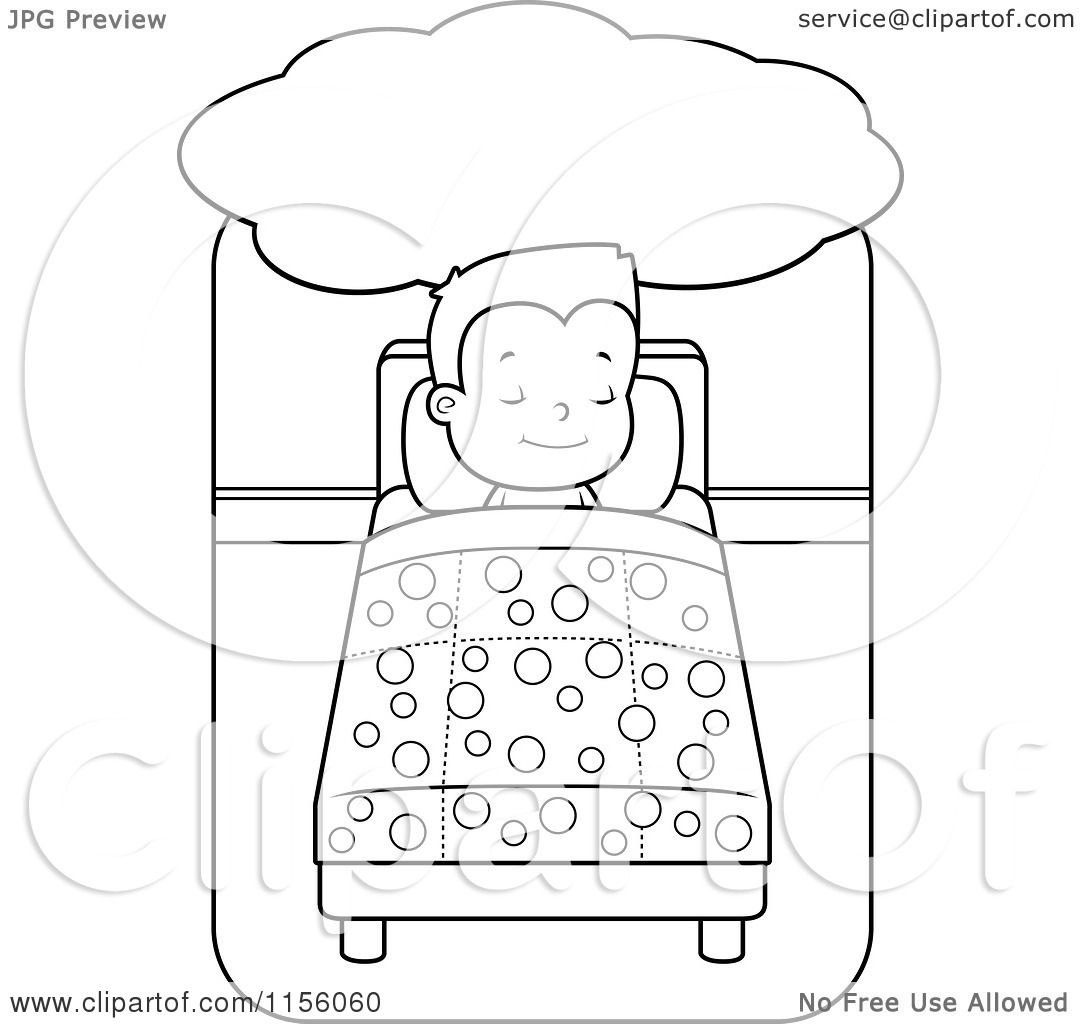 Cartoon bed drawing cartoon clipart of a black and