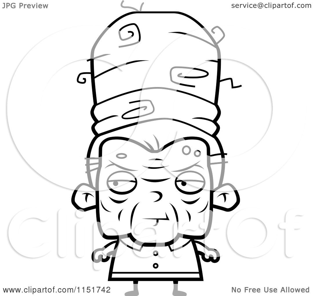 Old woman black and white clipart for Old lady coloring page