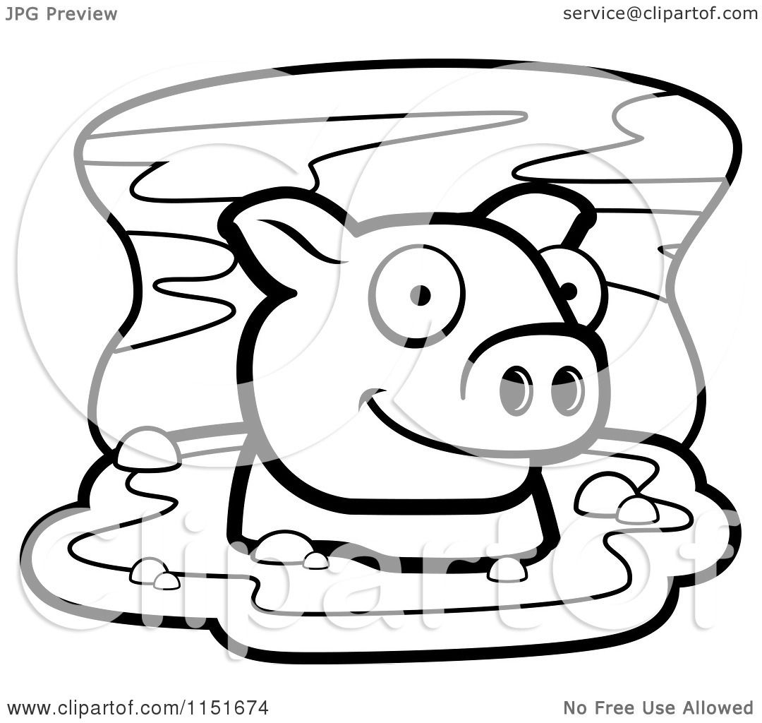 pig in mud coloring pages - photo#24