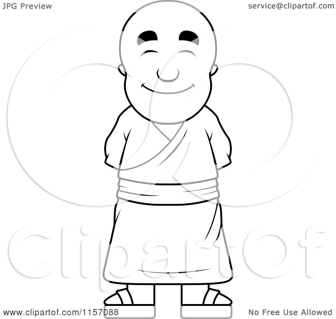 Botas de futbol colouring pages - Buddhist Monk Colouring Pages