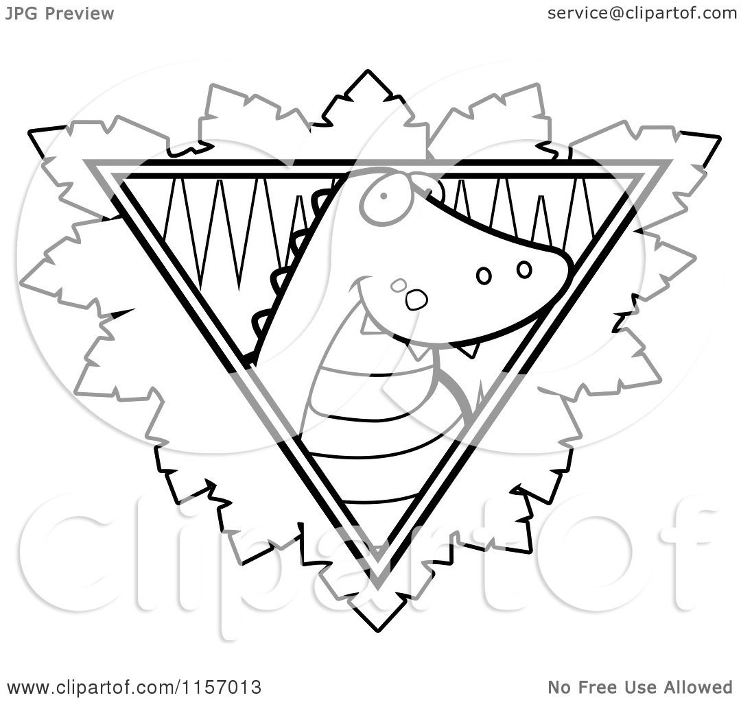 cartoon clipart of a black and white safari crocodile logo