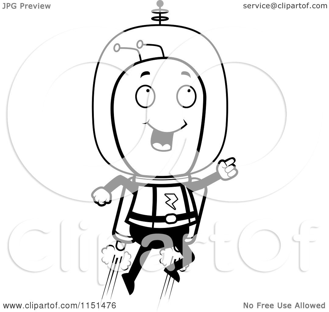 Black and white space suit