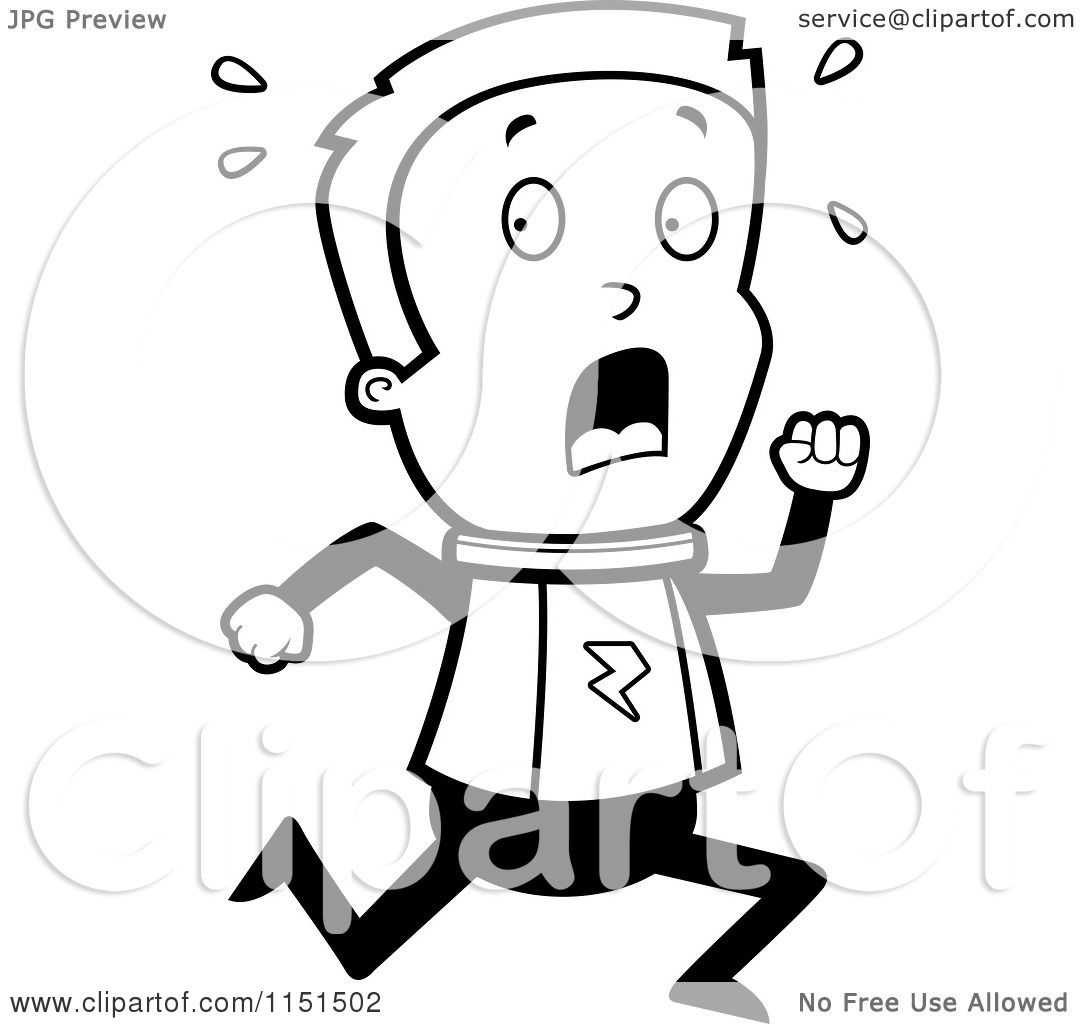 Cartoon Clipart Of A Black And White Space Ranger Boy ...
