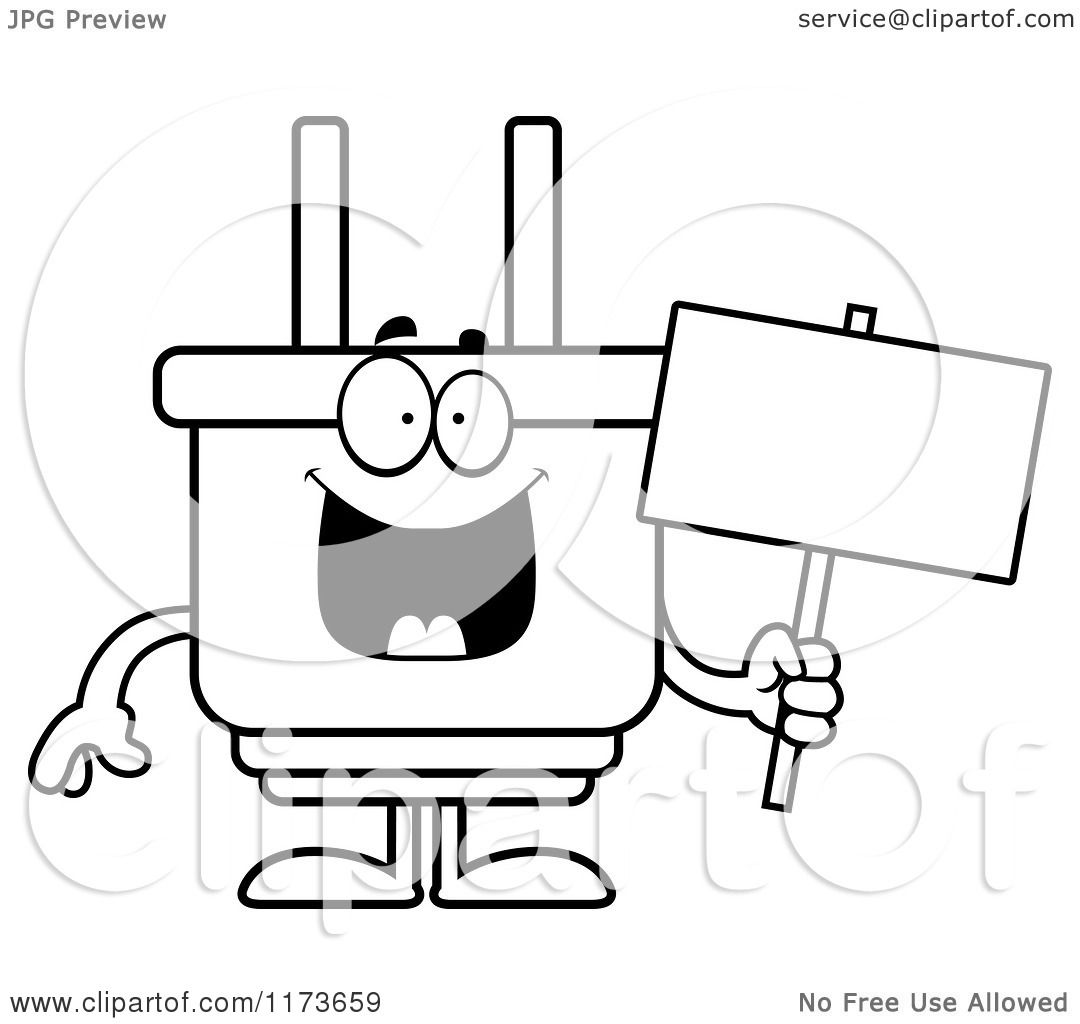 Coloring Page With The Electrician: Electric Plug Coloring Page Coloring Pages