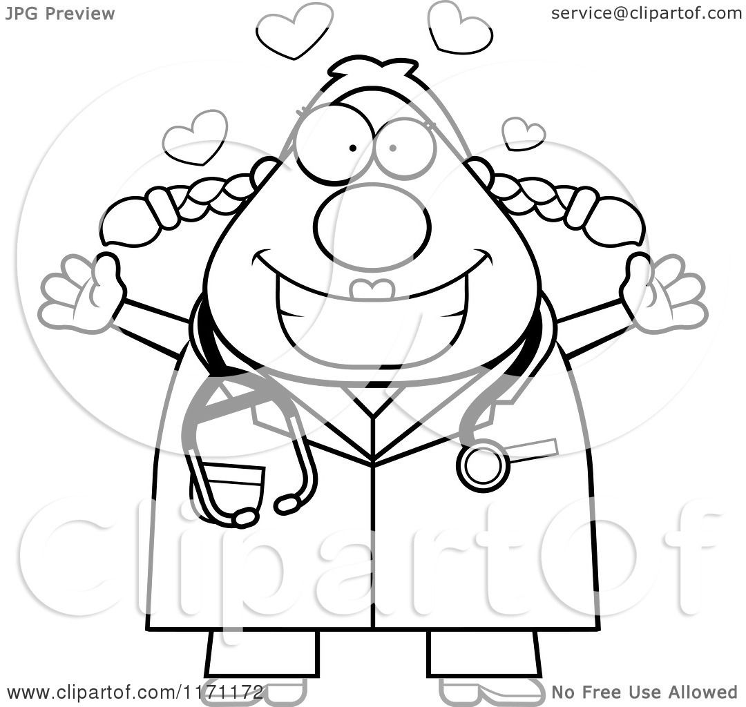 Doctor Wearing Operating Suit Coloring Page Drawing Of A Health