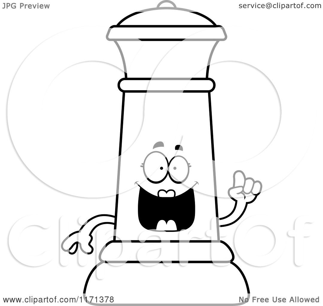 Cartoon Clipart Of A Smart Black Chess Queen Mascot with ...