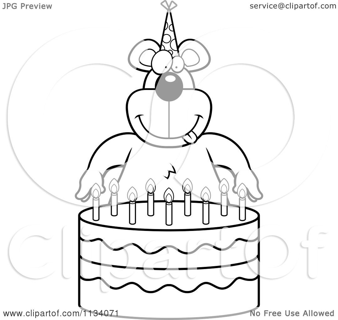 No Birthday Cake Coloring Page CandlesBirthdayPrintable Coloring