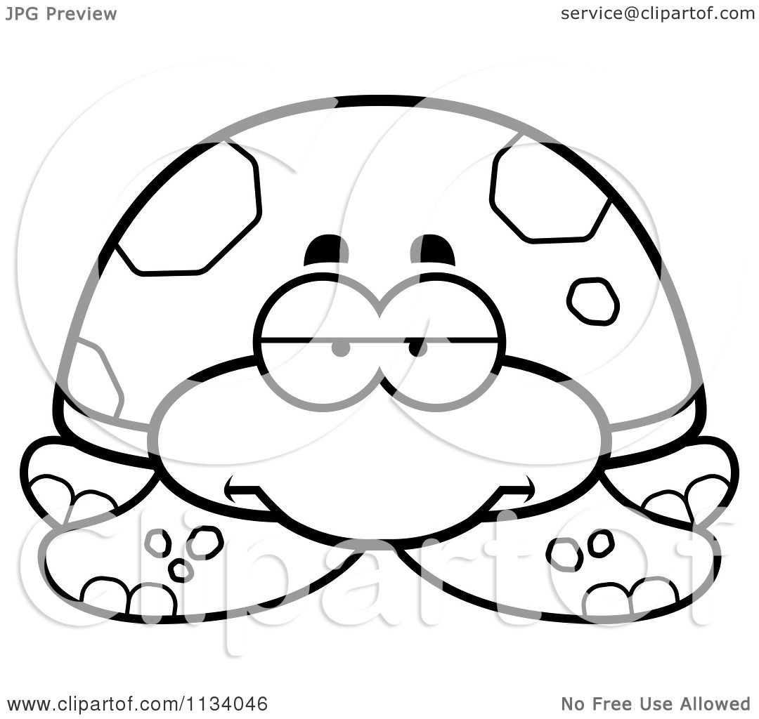 ... Bored Sea Turtle - Black And White Vector Coloring Page by Cory Thoman