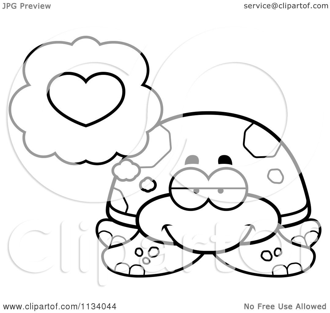 Cartoon Sea Turtle Coloring Pages
