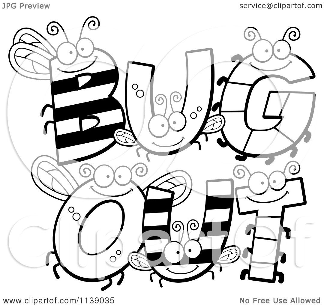 cartoon bug coloring pages - photo#33