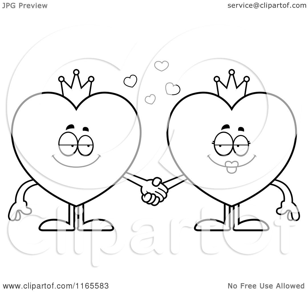 King And Queen Cartoon Drawing Cartoon Clipart of King And