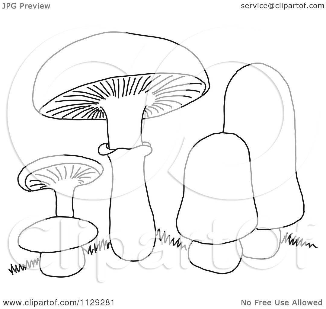 cartoon mushrooms coloring pages - photo#29