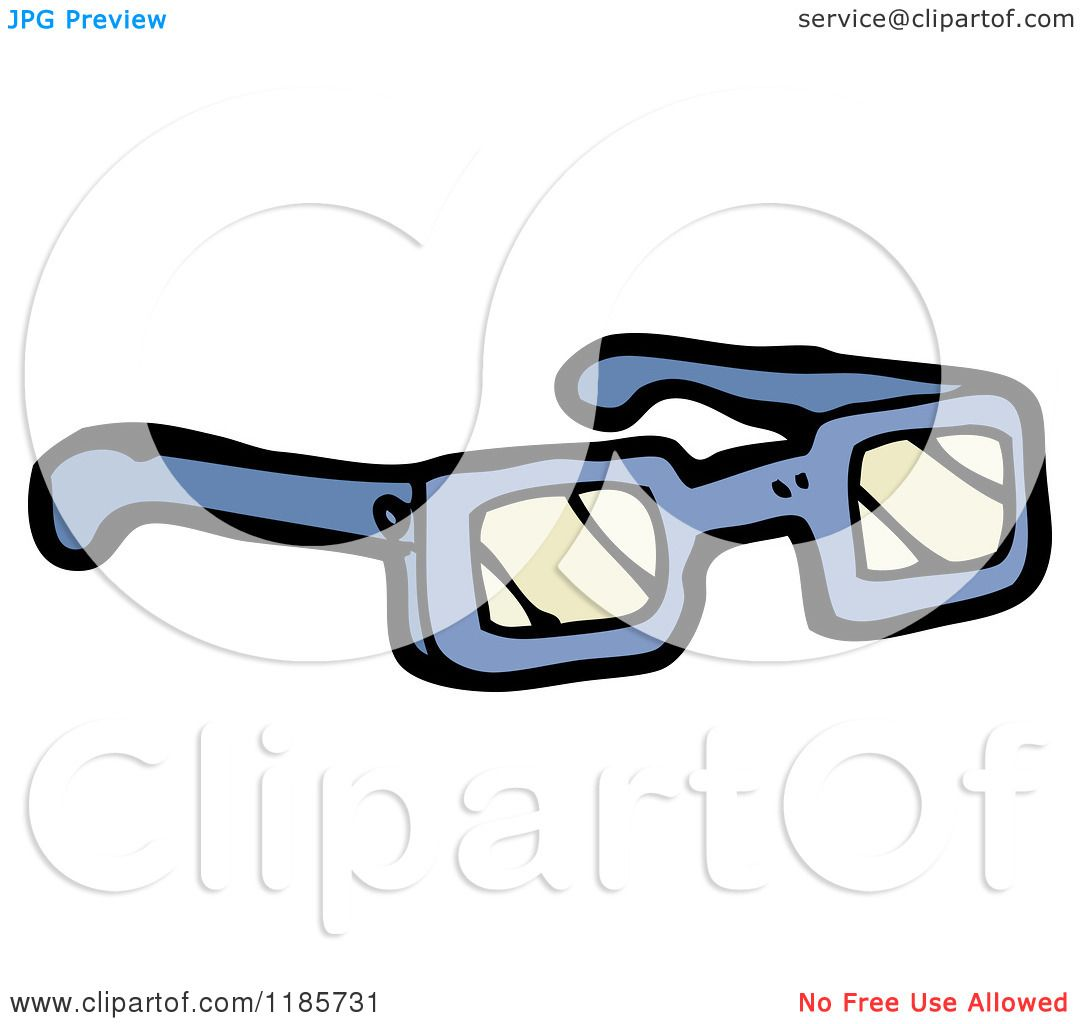 Cartoon of 3D Glasses - Royalty Free Vector Illustration ...